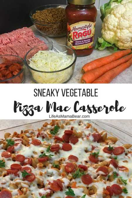 Fool your picky eaters with this delicious Pizza Mac Casserole with hidden veggies!