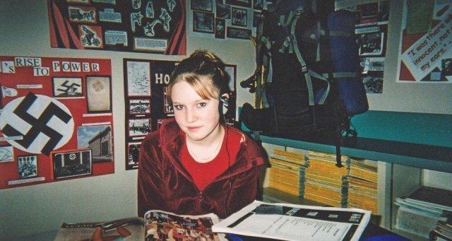 Me in grade 9 Social Studies, 2003.