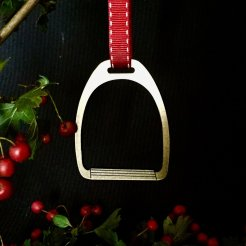 gold stirrup christmas decoration