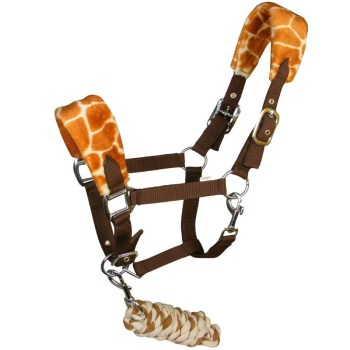 Giraffe print fleece headcollar