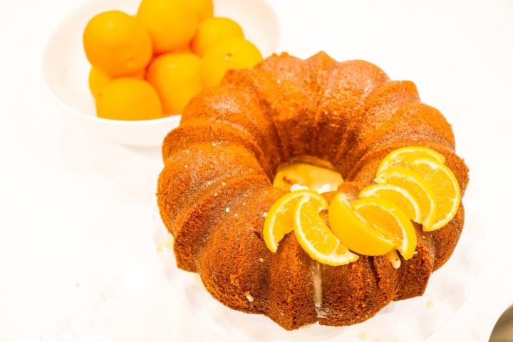 Monkfruit sweetener Orange Bundt Cake