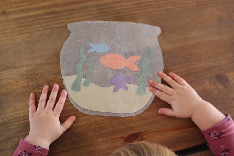 Wax Paper Fish Bowl Kids Craft Video Life At Cloverhill
