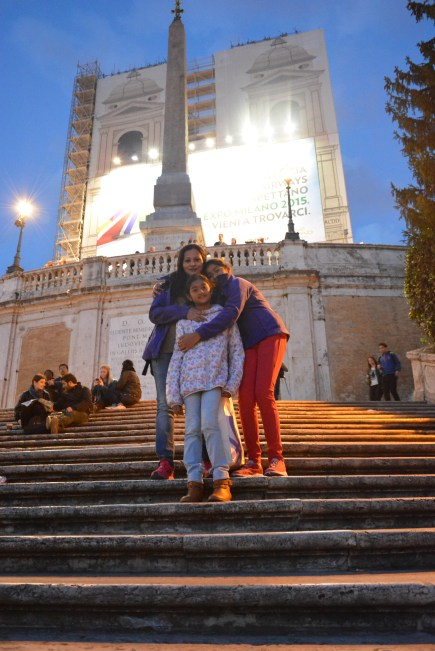 The spanish steps emptier after dusk