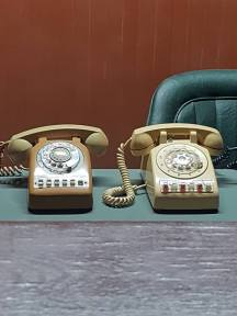 Phones in the bunker set in the palace