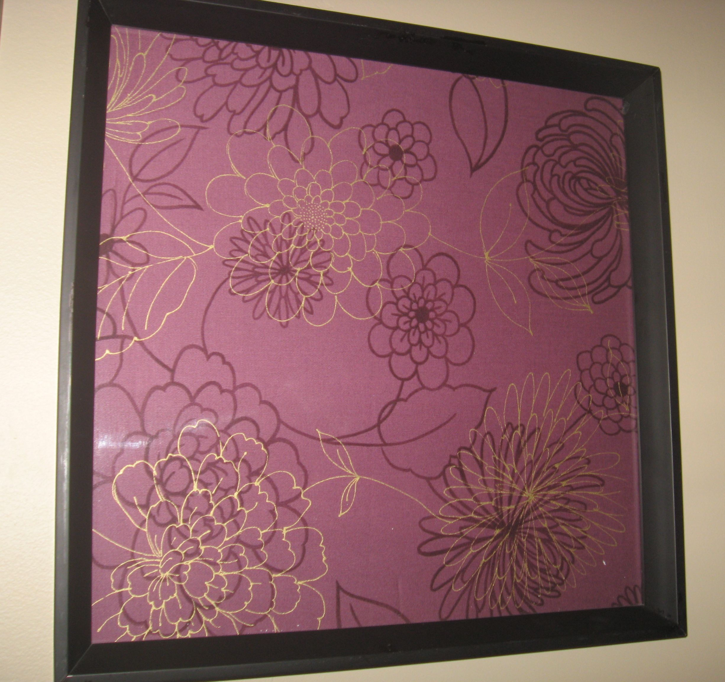 Fabric! In a frame!