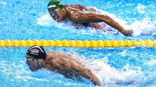 Michael Phelps ignores the competition and focuses on winning