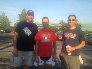 "Craig ""Hemi"" Henwood in 2nd place, Steve ""KSU Wildcat"" Wathke took the win, and Jeff Peters in 3rd. Great race, guys!"