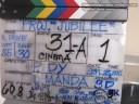 the slate/clapper with important information about the shot