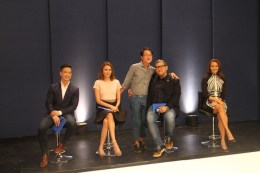 day 3: some of the nicest people I've had the privilege of meeting... host (Tweetie de Leon-Gonzalez), mentor (Jojie Lloren) and judges (Rajo Laurel, Apples Aberin and guest Francis Libiran) are all smiles for the new season.