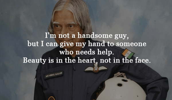 Image result for I'm not a handsome guy, but I can give my hand to someone who needs help. Beauty is in the heart, not in the face