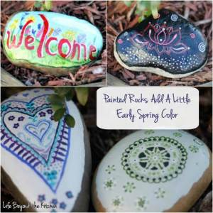 Painted Garden Rocks Add Early Spring Color {#ccbg Challenge}