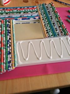 Paper Reed Mirror