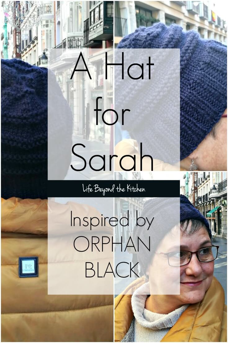 I really like the slouchy hat Sarah wore in a couple episodes of #OrphanBlack. A few screen caps, a test knit, and voila! A new hat! Free pattern available on the blog.