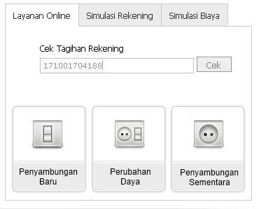 Cek Tagihan Listrik di situs resmi pln
