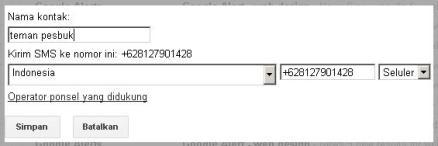 cara sms gratis di internet menggunakan gmail