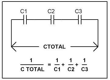 rangkaian kapasitor seri