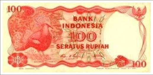 uang indonesia kuno 100 rupiah