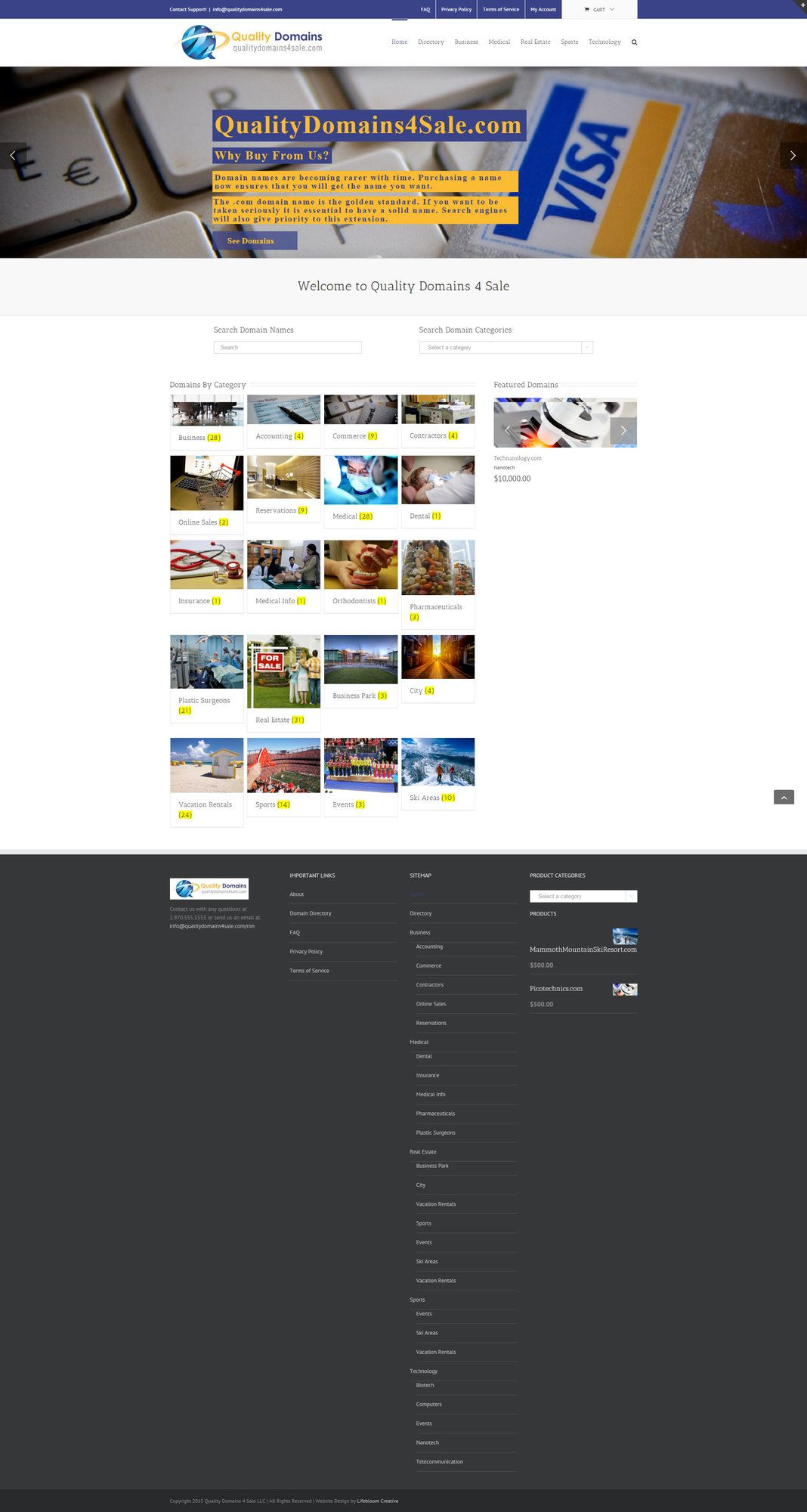 QualityDomaisn4Sale.com-eCommerce-website-design