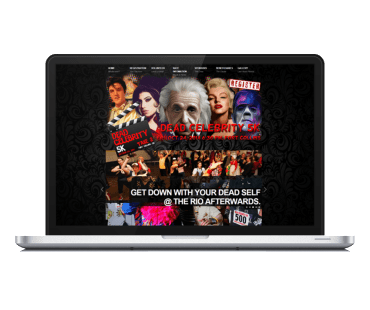 Dead Celebrity Run Web Design Brought to you by Karlyle Walker and Lifebloom Creative
