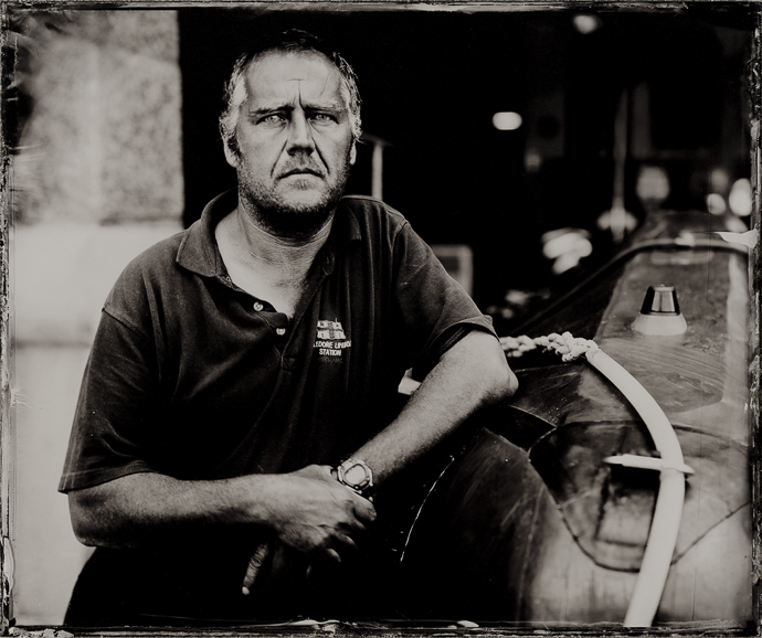 The Lifeboat Station Project: 12x10 inch Ambrotype by Jack Lowe Owen Atkinson, Appledore RNLI Mechanic, Sunday 28th June 2015