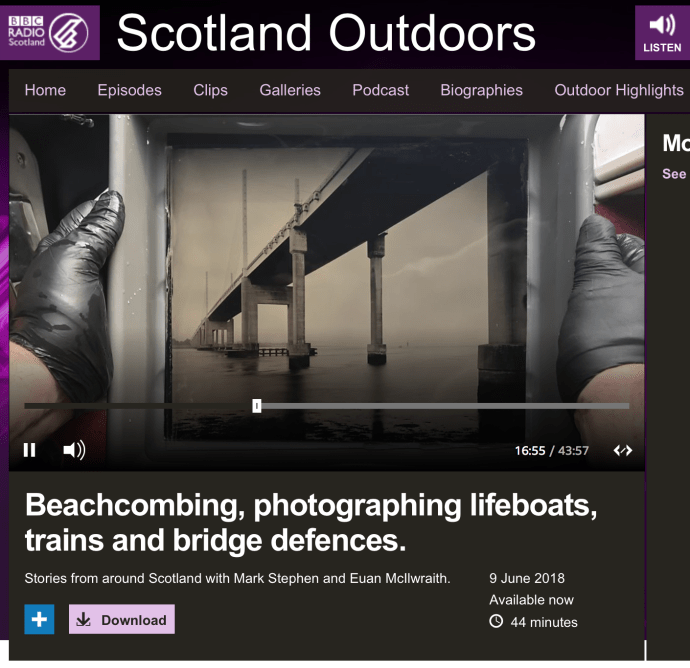 BBC Radio Scotland Outdoors discuss The Lifeboat Station Project by Jack Lowe