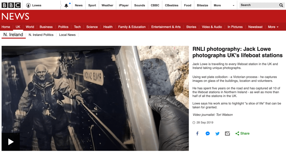 Jack Lowe discusses The Lifeboat Station Project with BBC News Northern Ireland