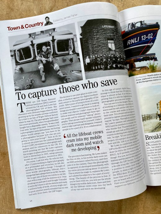 The Lifeboat Station Project in Country Life Magazine