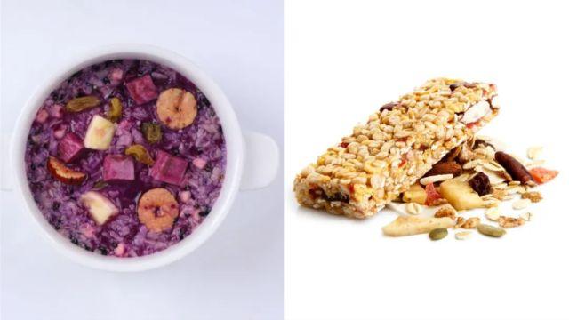 代餐-紫薯粥、能量棒