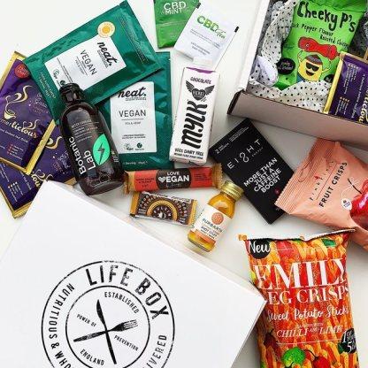 Lifebox vegan snacks for February 2020