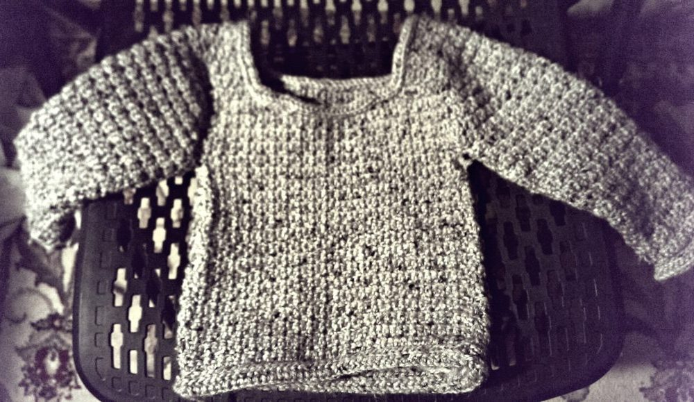 1st Crocheted Sweater {31 Days of Photography in October}