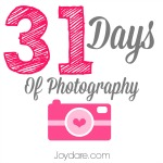 31 Days of Photography in October – Day 1