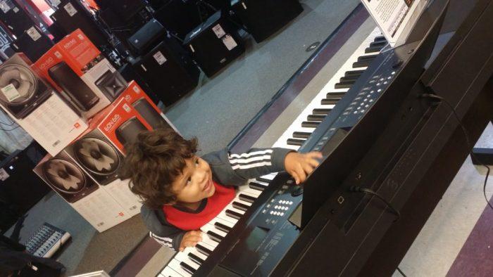 toddler, music, keyboard, play, playing,