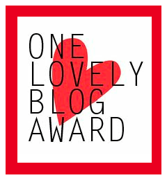 one lovely blog award, award, blogging, friends, blogosphere, internet, recognition