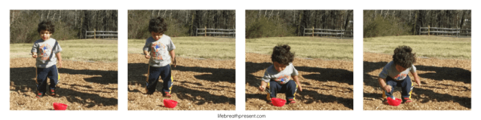 collecting dirt, playing, play, toddler, fun, winter, park, play,