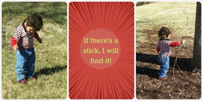 stick, park, playing, play, toddler, boy, fun, winter, park