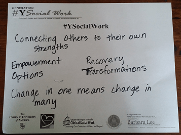 #ysocialwork, social work, appreciation, transformation, empower, change, recovery, options, profession, campaign, connect