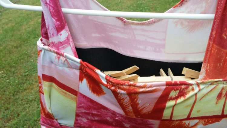 sewing, clothespins, holder, diy, upcycle, project, clothespin bag, bag, hanging, laundry