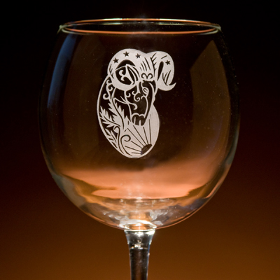 engraved glass, glassware, glass with a twist, engraving, gifts