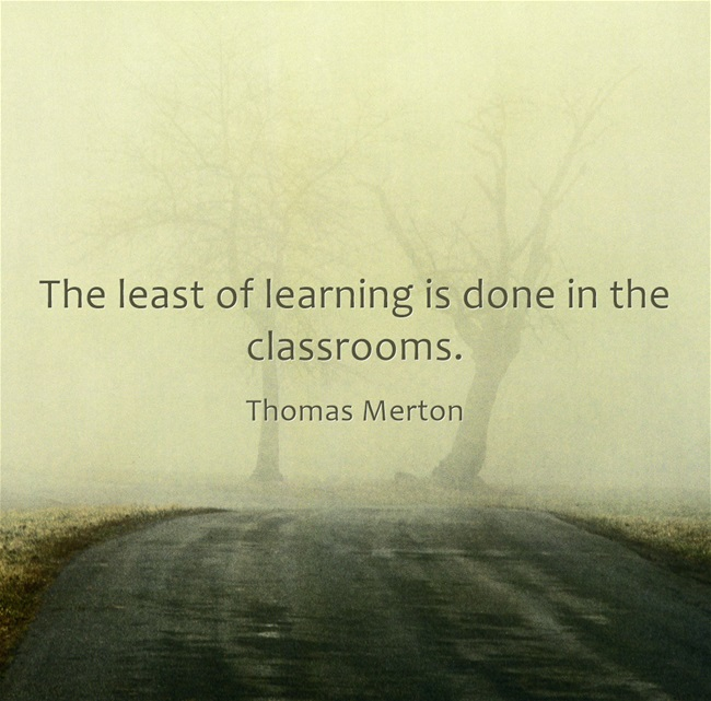 learning, lifelong learning, quote, thomas merton