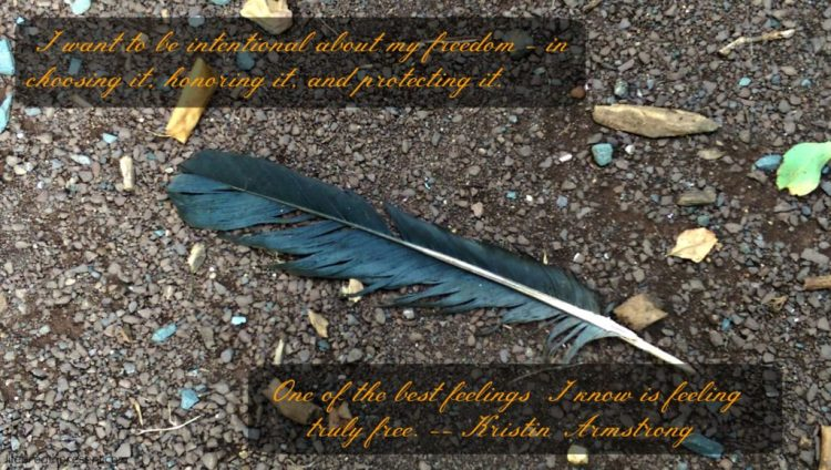 intention, intentional, word of the year, feather, rocks, outdoors