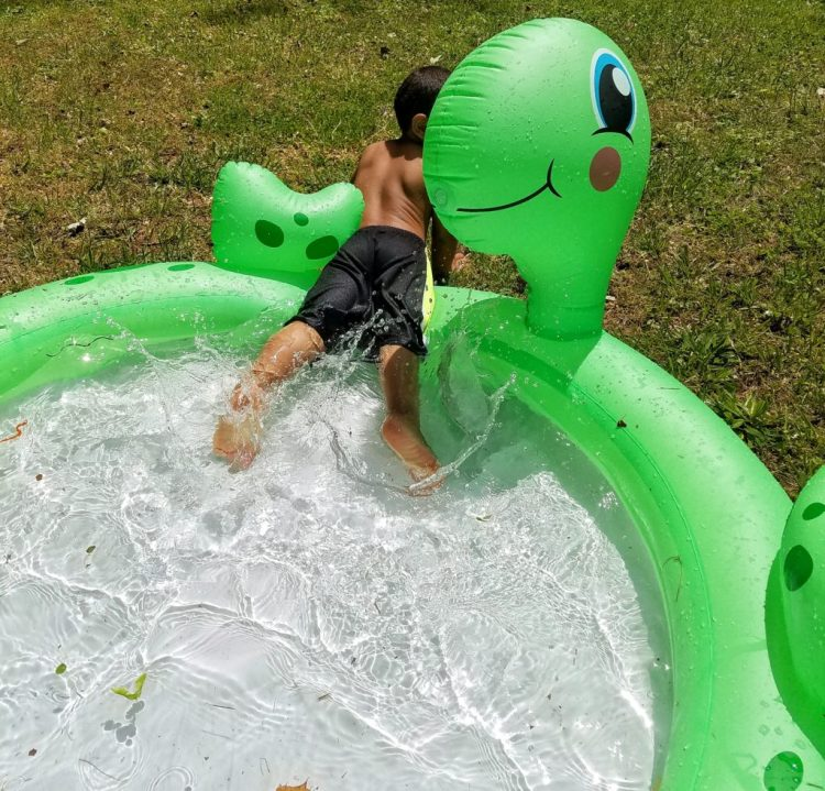 toddler, summer, water, play, backyard, family, fun, pool