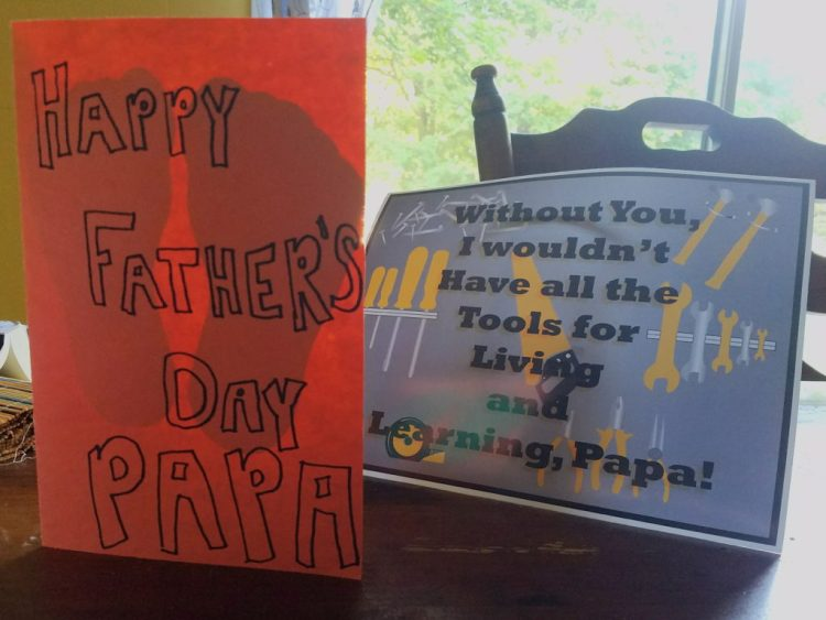 fathers day, cards, homemade, handmade, 2016
