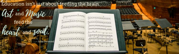 music, music education, quote, julie garwood, auditorium