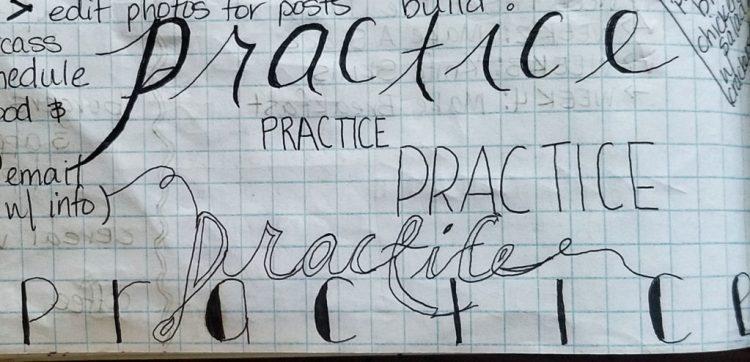 handlettering, practice, paper, draw, creative, creativity