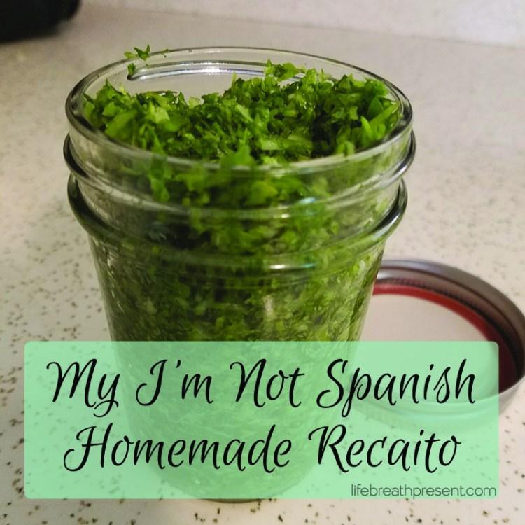 recaito, recipe, green peppers, cooking, homemade, spanish, processor, cilantro, garlic, himalayan sea salt, salt