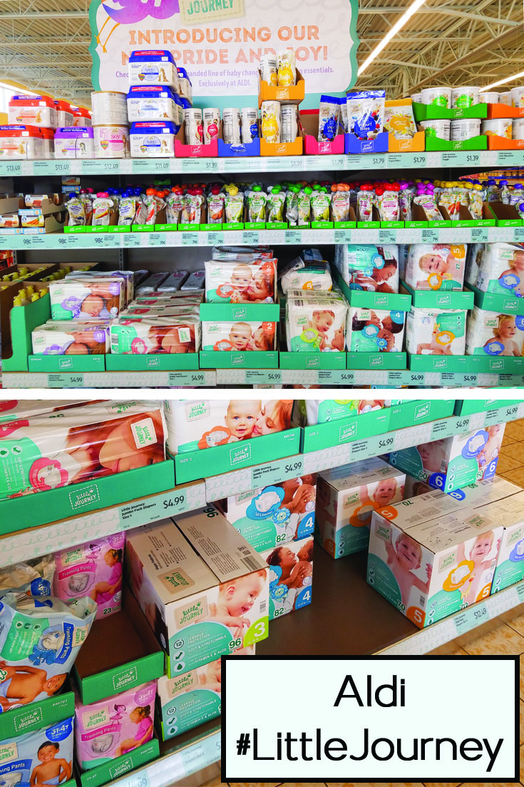 influenster, aldi, voxbox, baby, products, littlejourney, store display, baby products