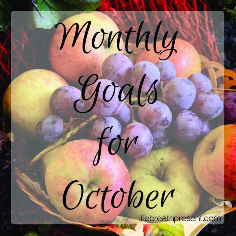october, goals, fruit, basket, fall, grapes, apples, monthly goals, achievement, goal setting