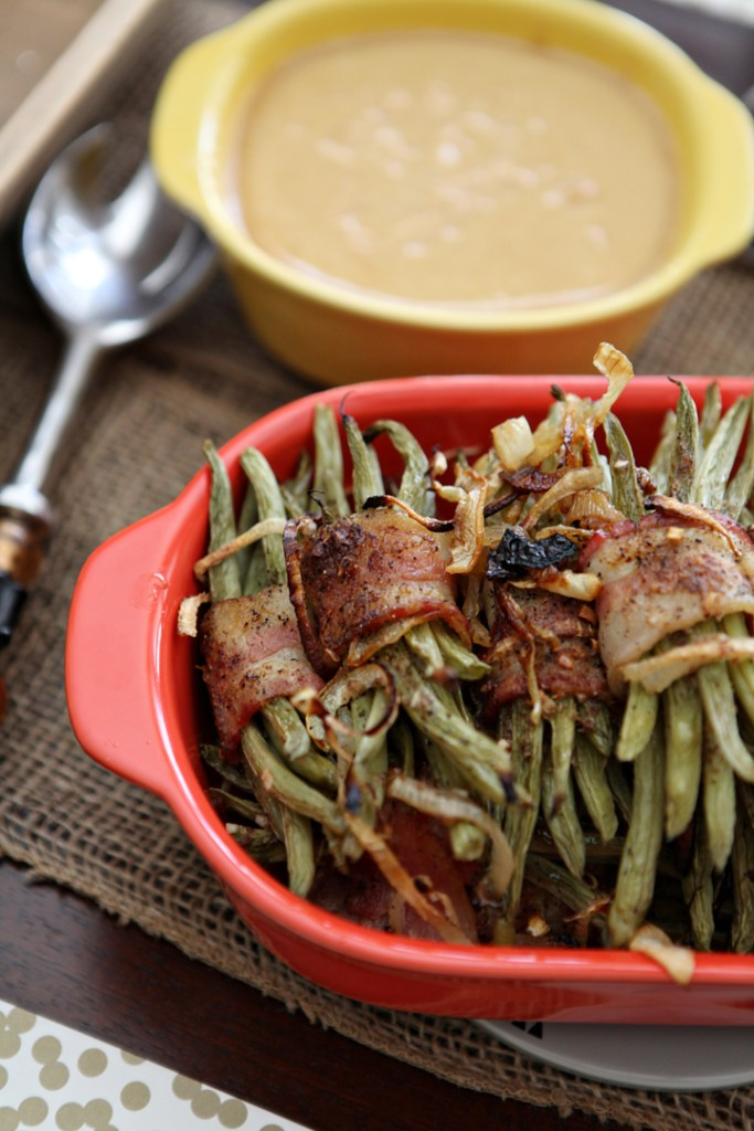 recipe, green beans, thanksgiving, bacon, speckled palate