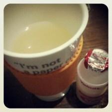 Tea with Yakult