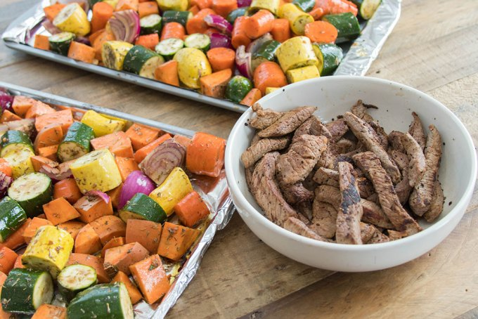 Roasted Vegetable and Grass-Fed Beef Strips - 6-Pack Food